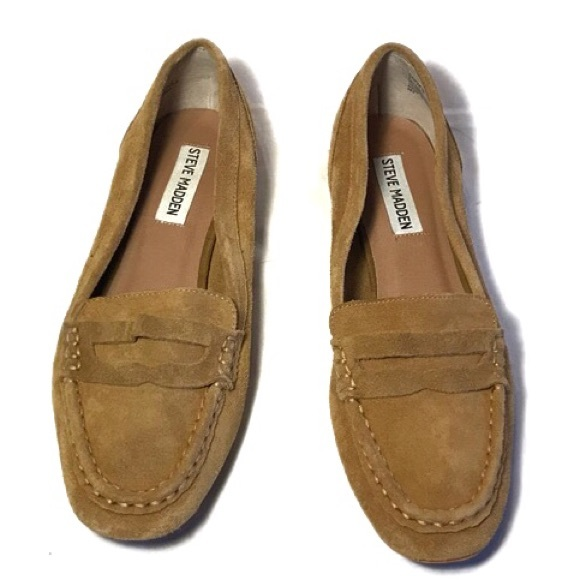 Steve Madden Leather Suede Paulette Loafers